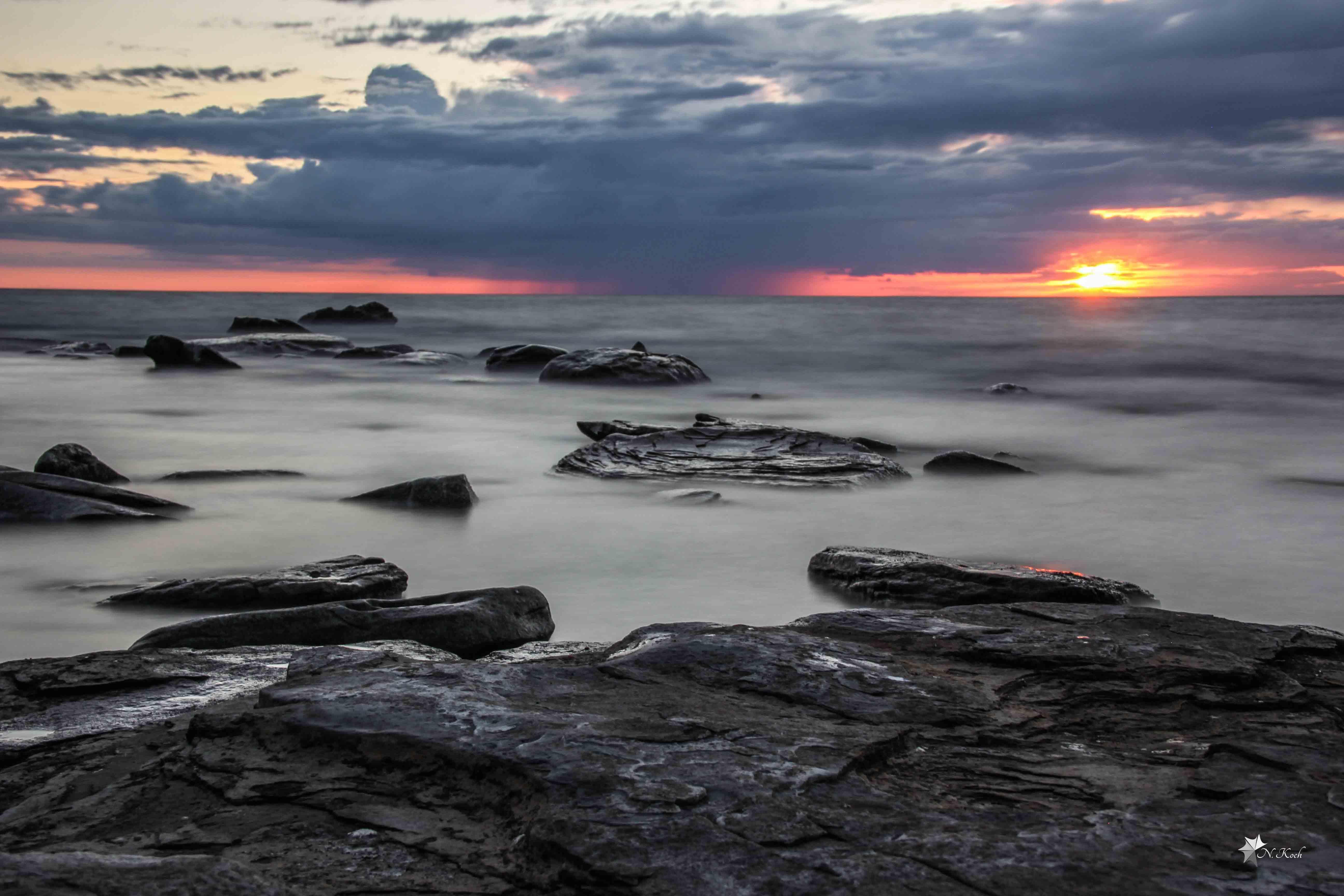2014, Sweden | Stormy sea on Gotland