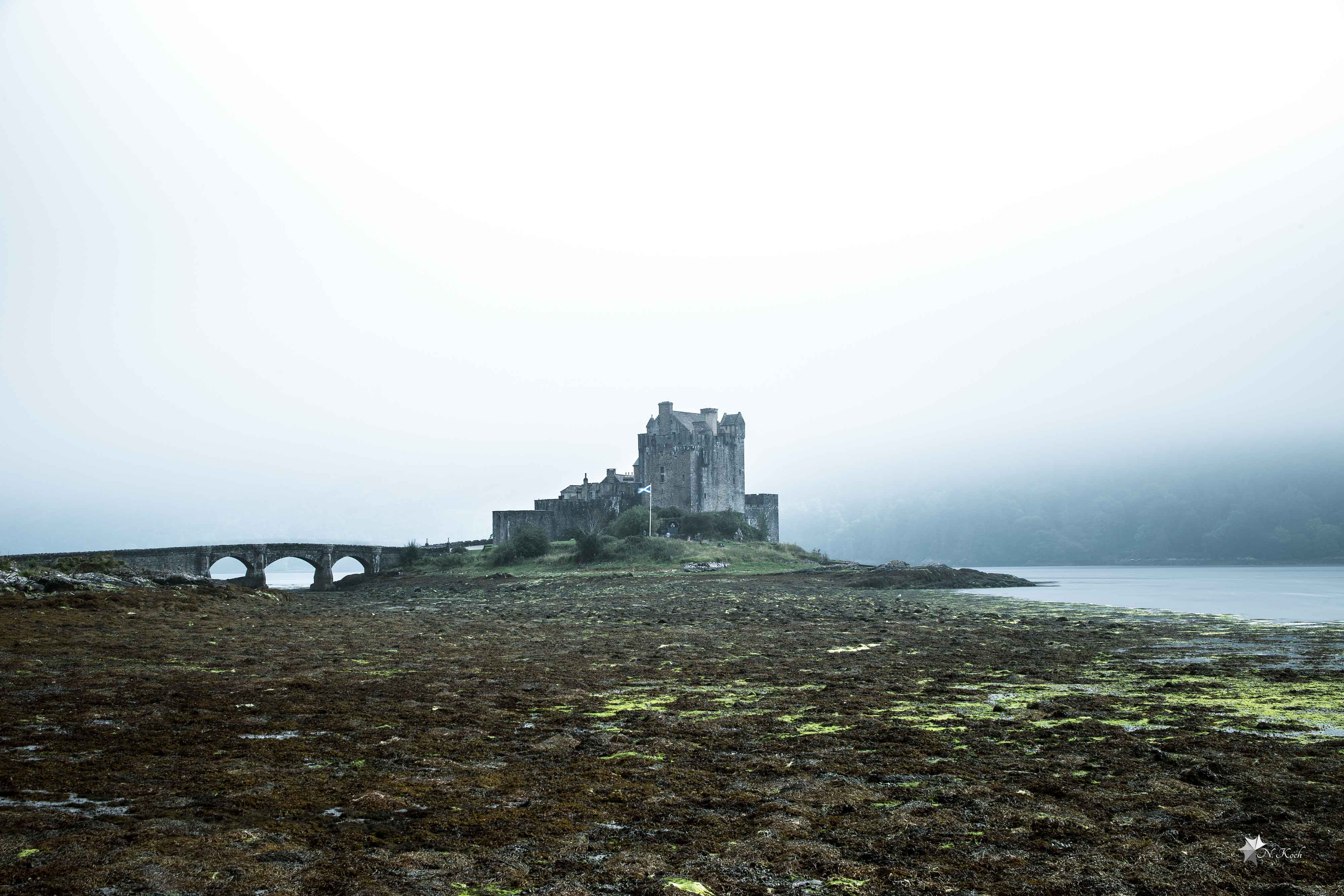 2016, Scotland | Eilean Donan Castle on a foggy day