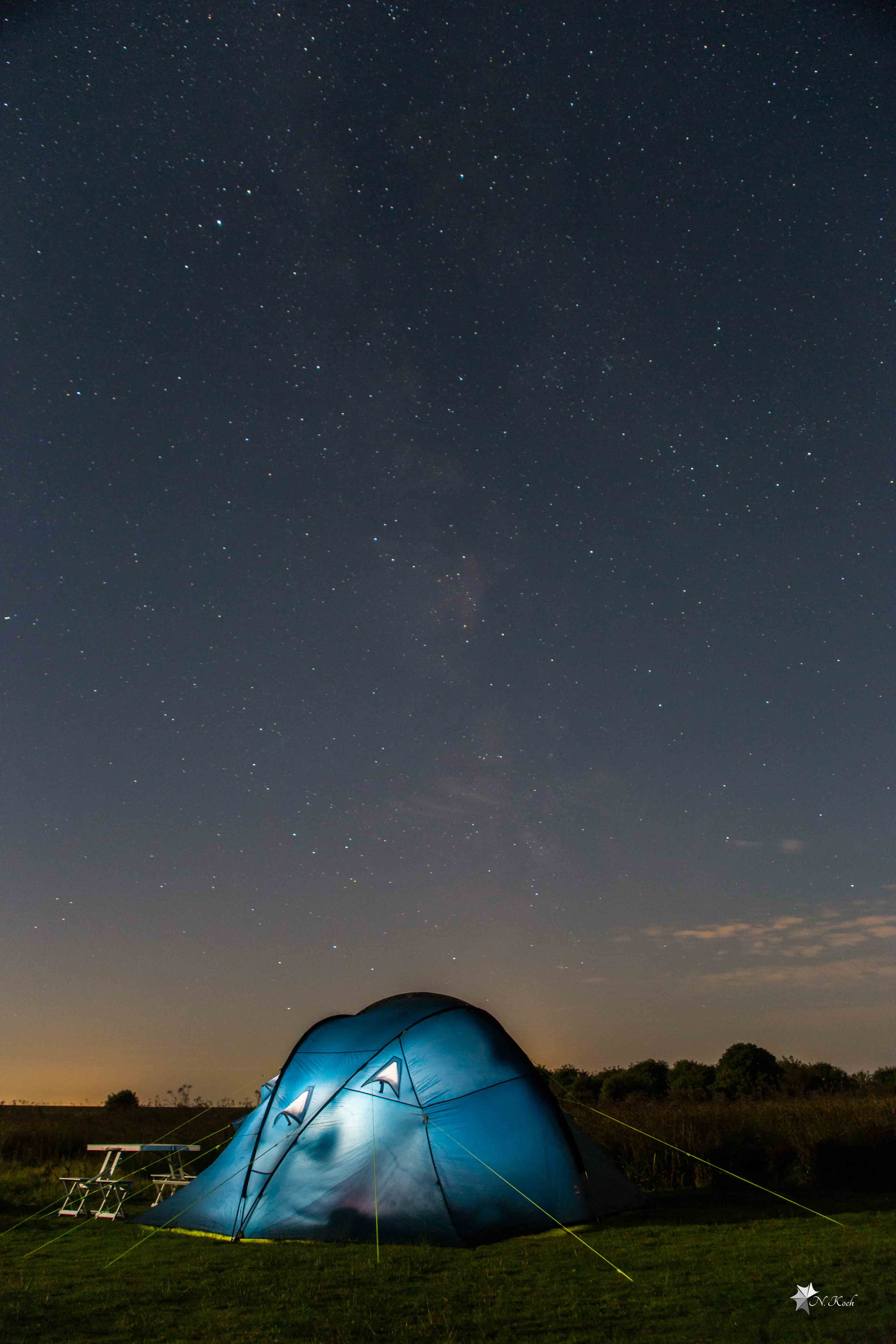 2015, Norderney | The tent under the stars