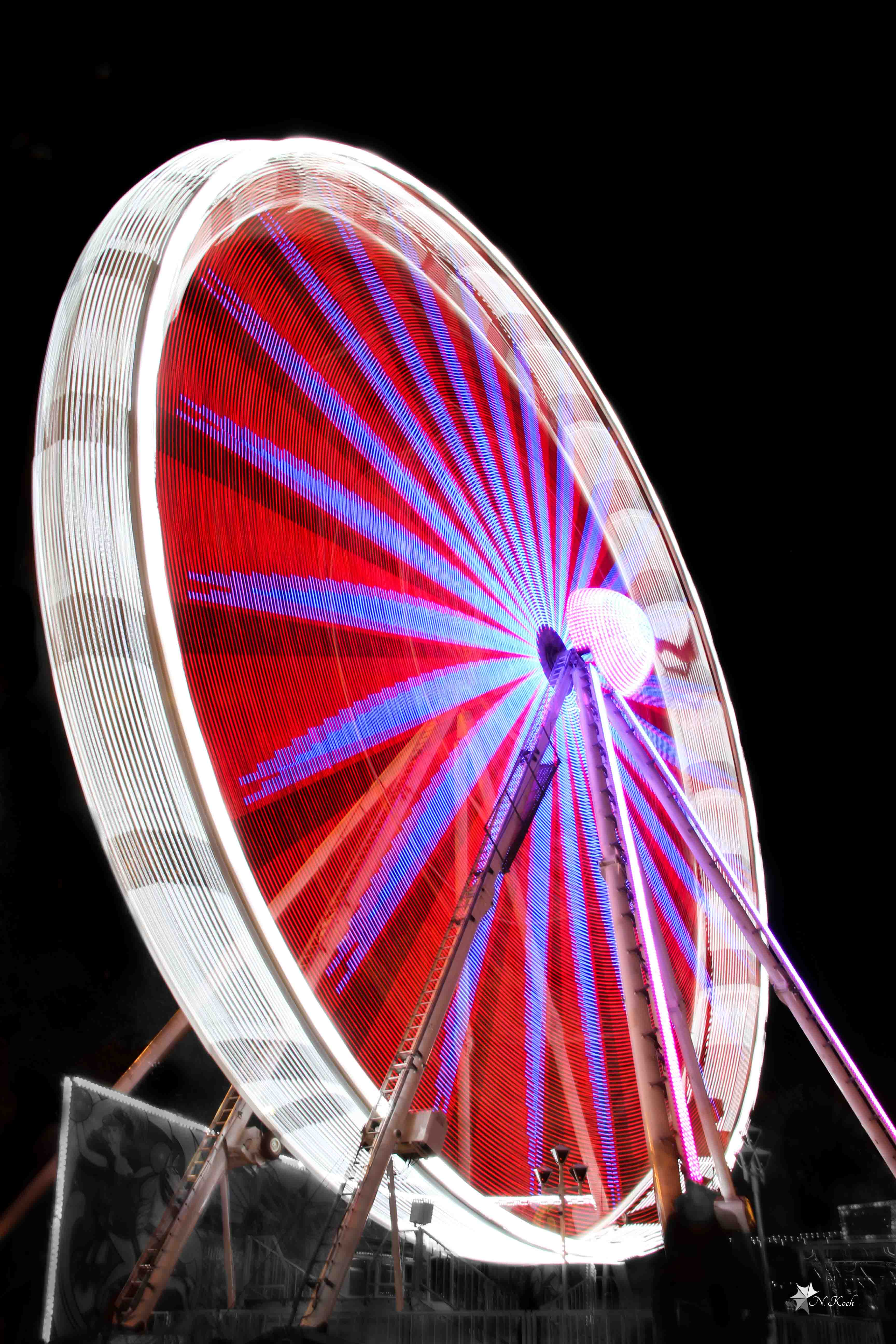 2014, Ferris wheel | Karlsruhe at night