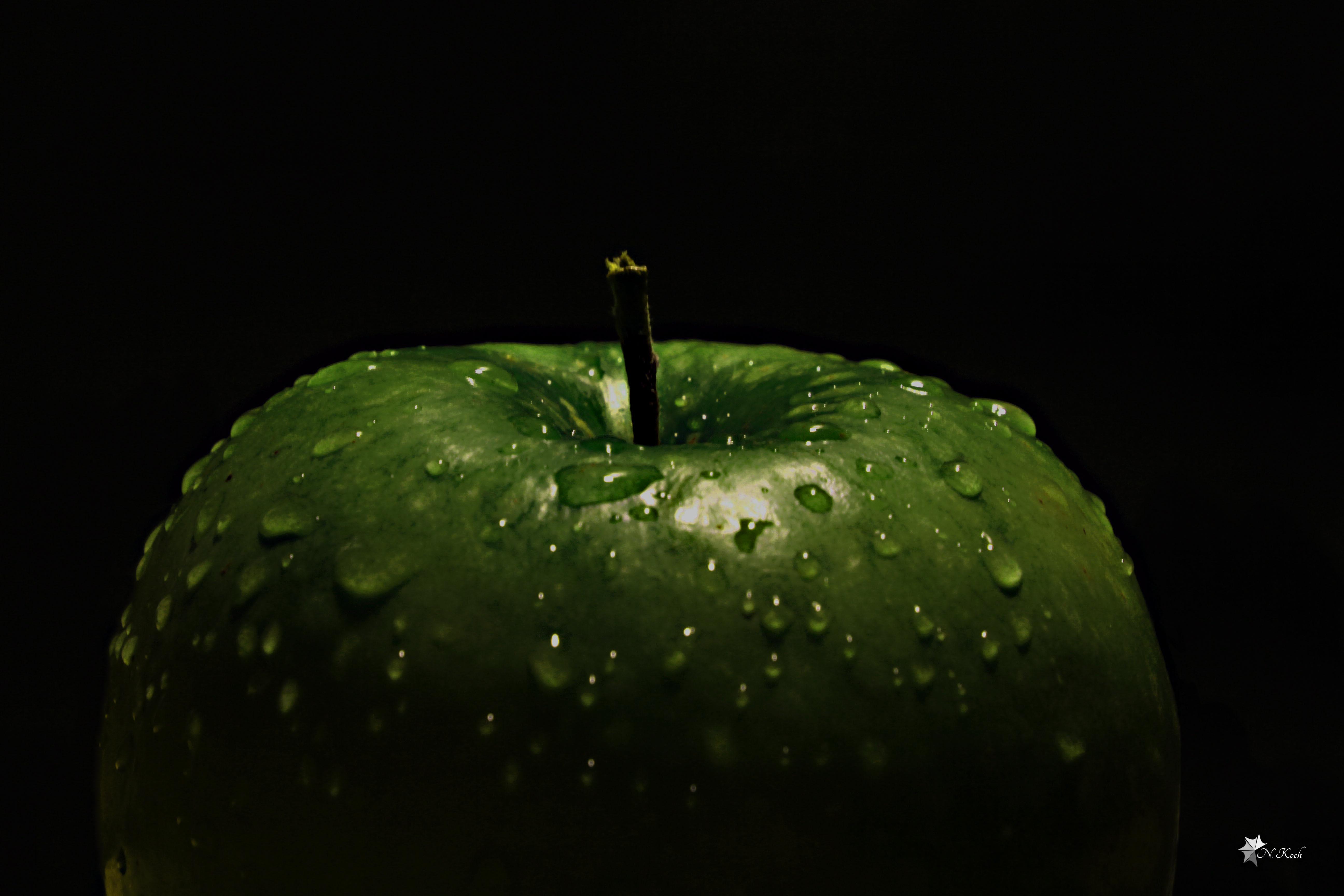 2014, Apple | Green apple in spotlight